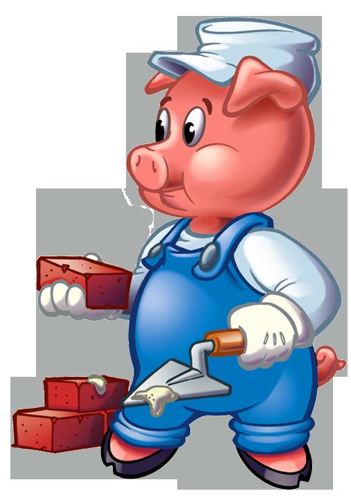 507x719 Clip Art Three Pigs Clipart