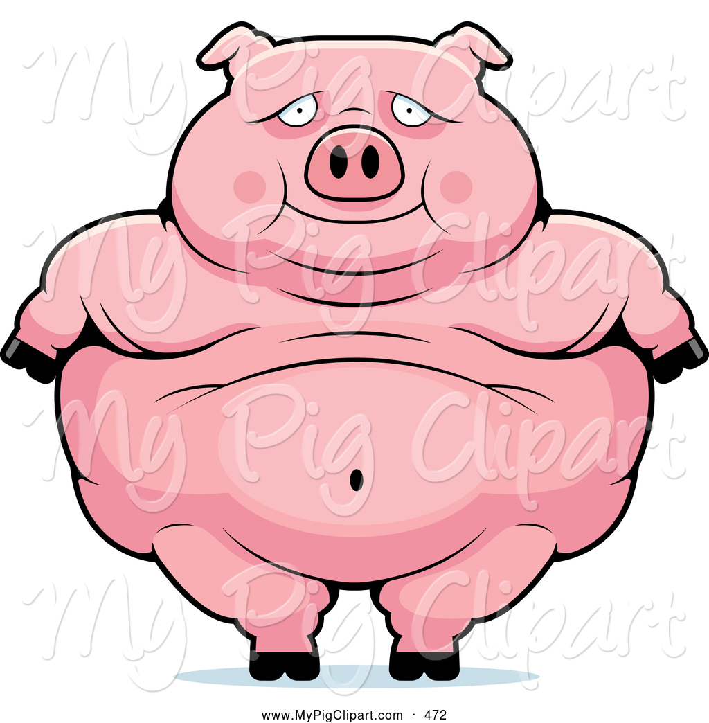 1024x1044 Swine Clipart Of A Cute Obese Pig Standing By Cory Thoman