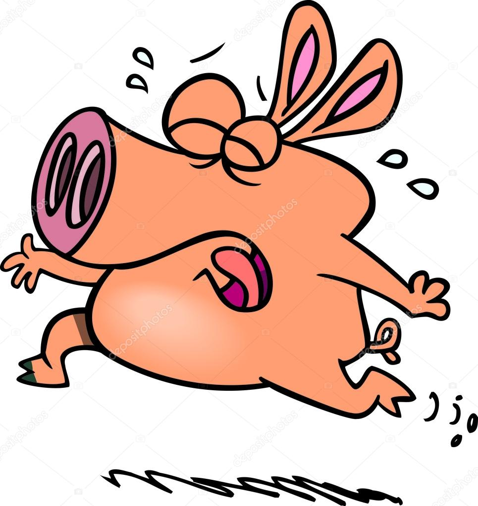 965x1023 Cartoon Pig Crying Stock Vector Ronleishman