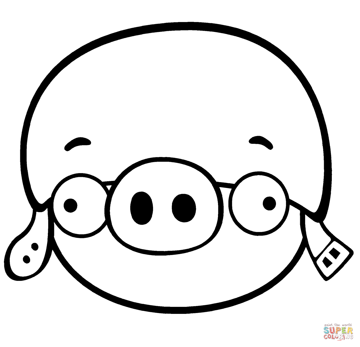 1174x1132 Corporal Pig Coloring Page Free Printable Coloring Pages