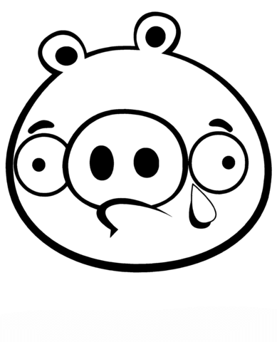 389x480 Crying Minion Pig Coloring Page Free Printable Coloring Pages