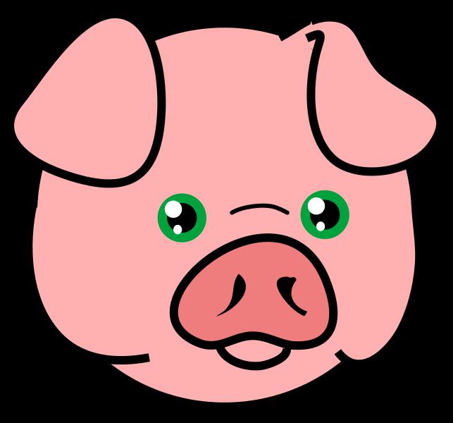 643x600 Public Domain Pig Clipart