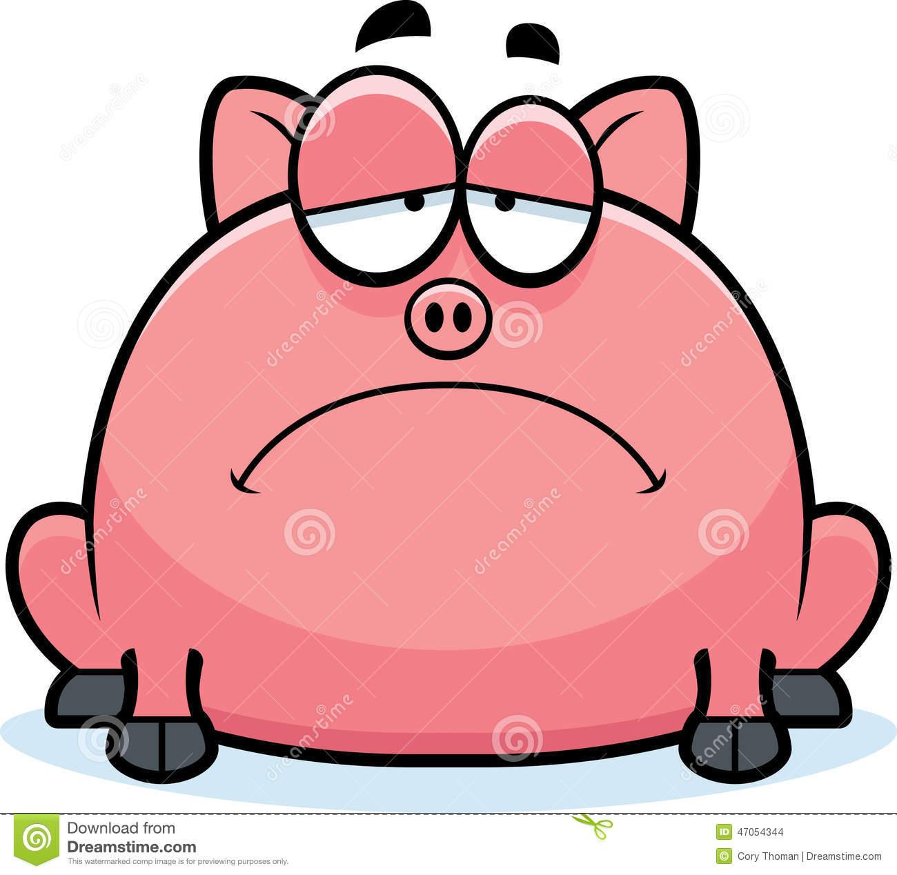 1300x1268 Sad Clipart Pig
