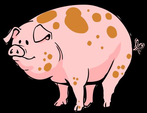 500x385 Sad Clipart Pig