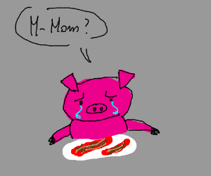 300x250 Pigs Crying Over Bacon (Drawing By Thegreaterdrawer)