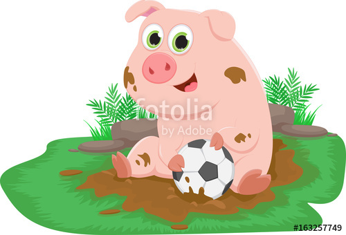 500x340 Cartoon Pig Play In Mud Stock Image And Royalty Free Vector