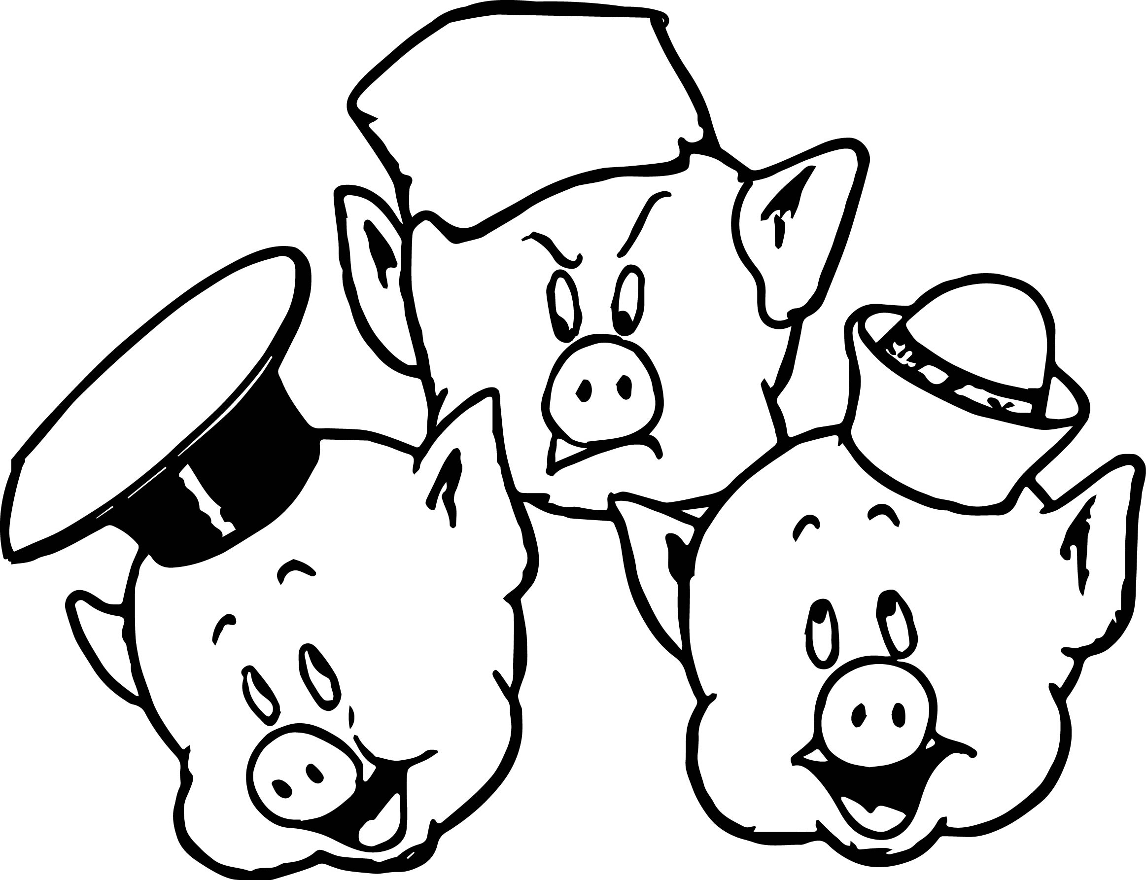 2325x1785 Cute Pig Coloring Pages Page Image Clipart Images