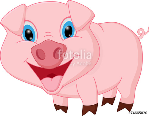 500x389 Cute Pig Cartoon Play With Mud Stock Image And Royalty Free