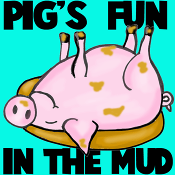 350x350 How To Draw Cartoon Pig Rolling In The Mud Sty In Easy Steps