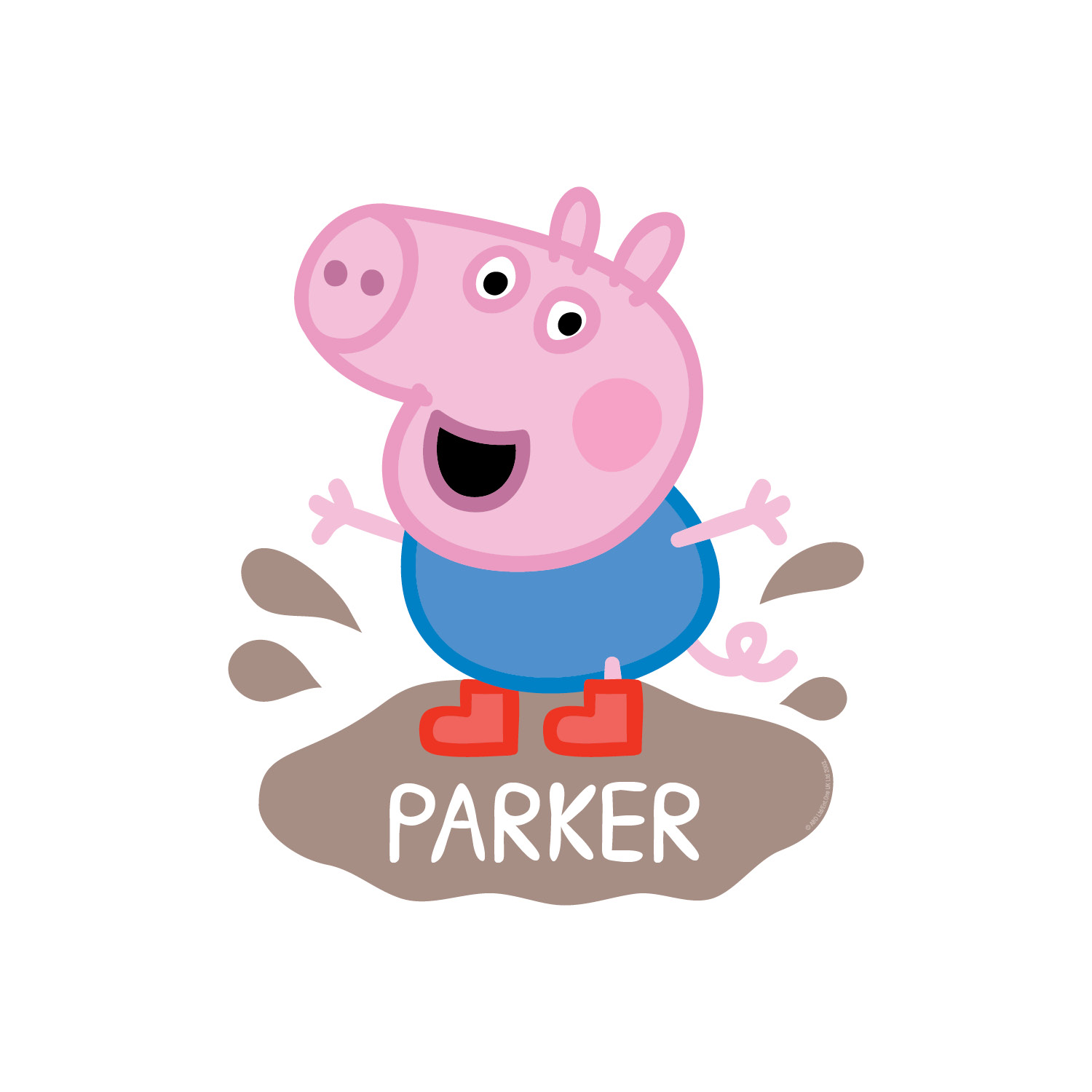 1500x1500 Peppa Pig George Mud Puddle Easy Move Canvas Decal