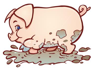 380x285 Pig In Mud Cartoon Clipart Panda