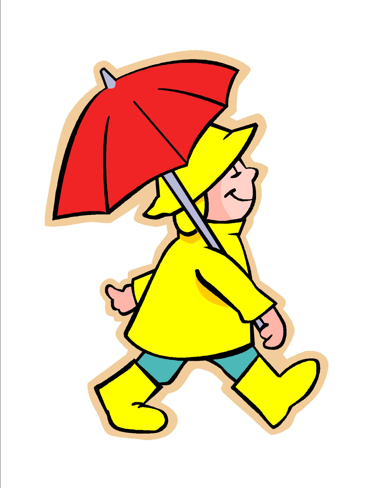 1275x1650 Red Umberella Rainy Day Clipart