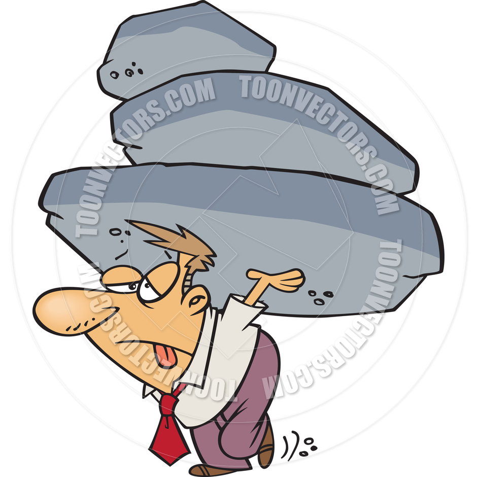 940x940 Cartoon Man Carrying A Heavy Load By Ron Leishman Toon Vectors