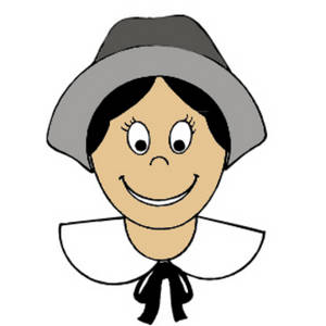 300x300 Clipart Graphic Of A Pilgrim Girl