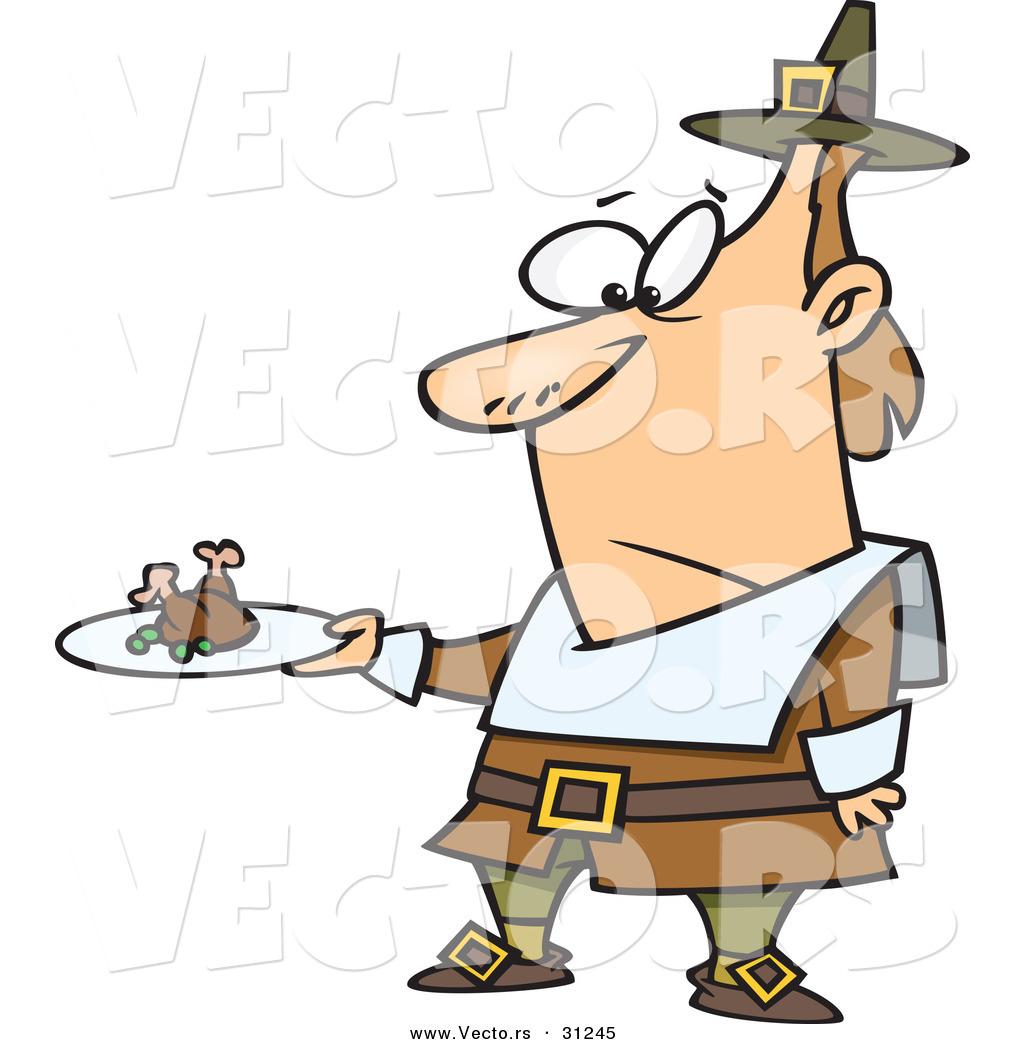 1024x1044 Vector Of An Unhappy Cartoon Pilgrim Man Looking