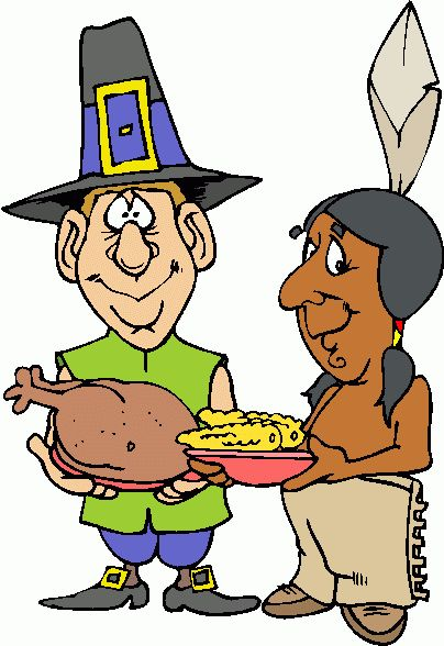 404x588 November Calendar Clipart Pilgrims