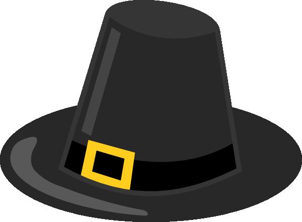 600x442 Pilgrim Hat With Black Band Clip Art
