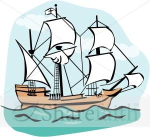 300x274 Pilgrim Clipart Boat