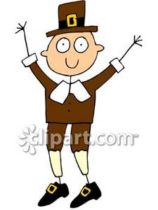225x300 Stick Figure Of A Pilgrim Royalty Free Clipart Picture