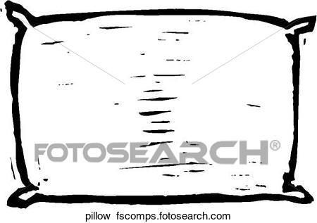 450x317 Clip Art Of Pillow Pillow
