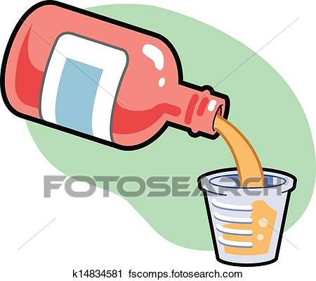 450x399 Clip Art Of Liquid Prescription Medication K5498456