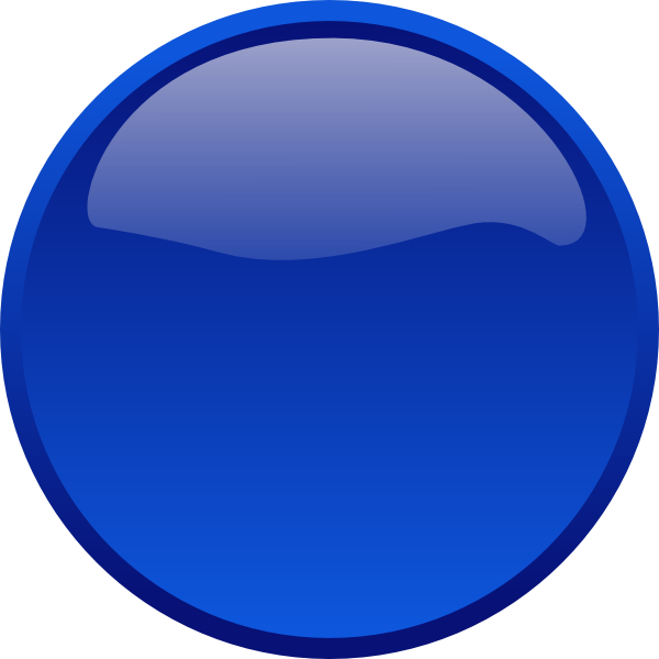 600x600 Button Rounded Blue Png, Svg Clip Art For Web