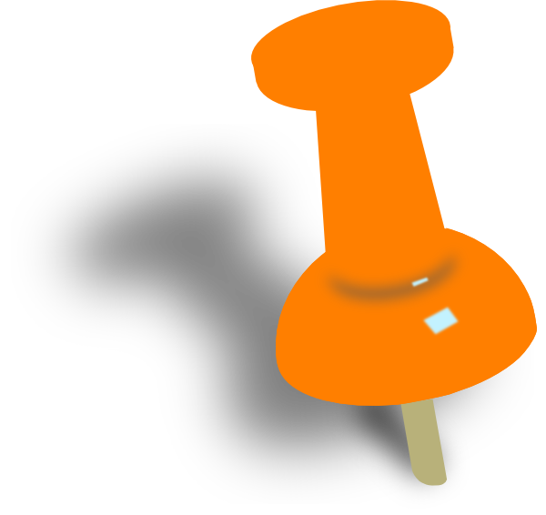 600x566 Orange Push Pin Clip Art