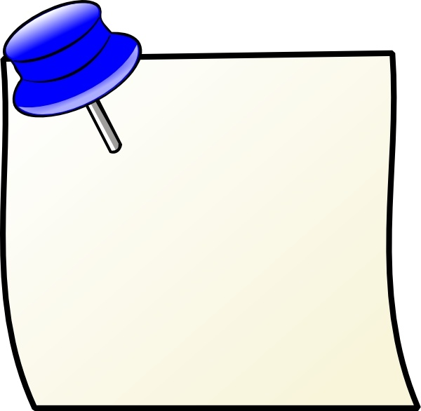 600x586 Note With Pin Clip Art Free Vector In Open Office Drawing Svg