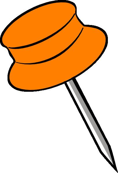 408x594 Pin Orange Clip Art