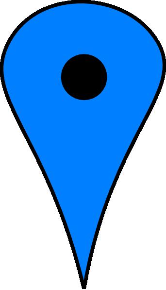 342x597 Blue Push Pin Png, Svg Clip Art For Web