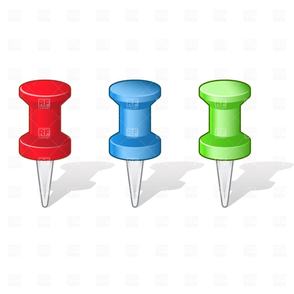 1200x1200 Push Pins Royalty Free Vector Clip Art Image