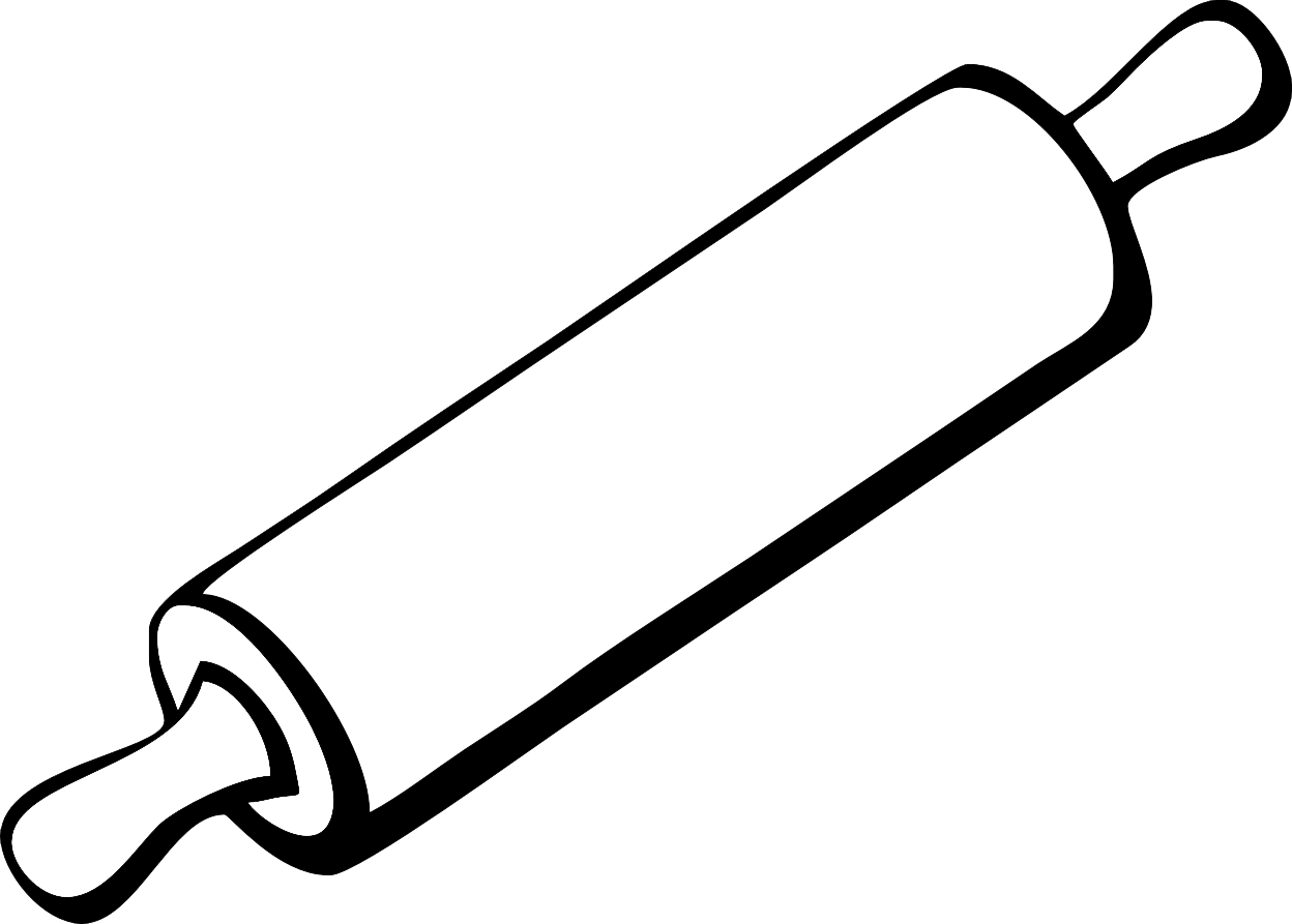 1248x893 Rolling Pin Black And White Clipart