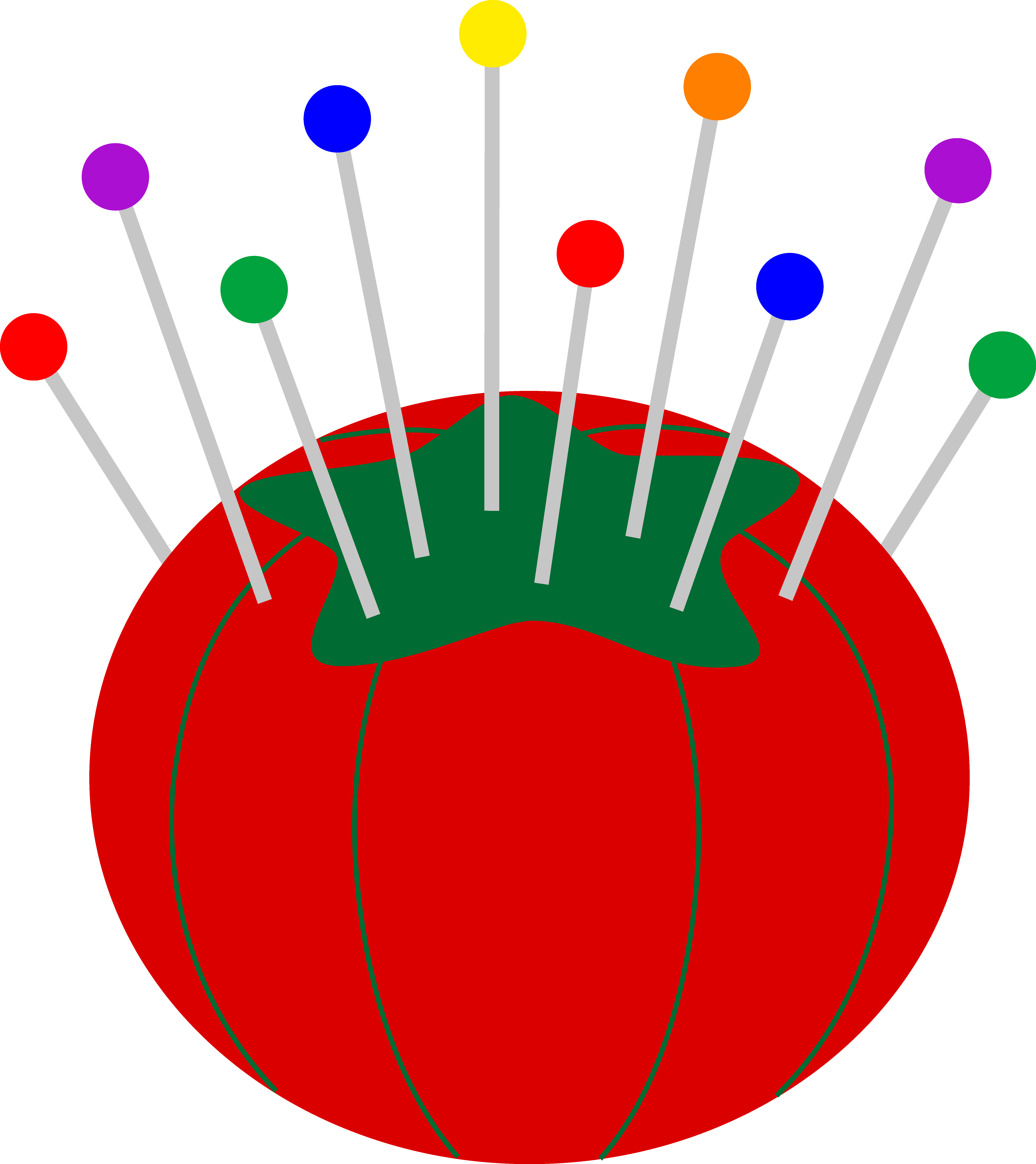 5987x6724 Tomato Pin Cushion With Pins