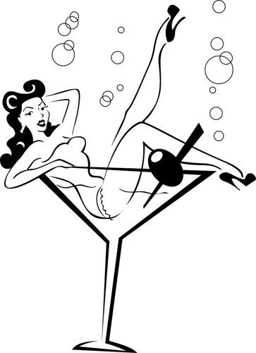 363x500 Pin Up Girl Clipart