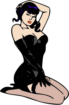 243x368 Pin Up Girl Clipart Many Interesting Cliparts