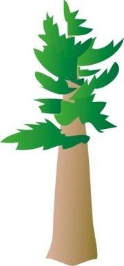 180x386 Green Pine Tree Clip Art, Vector Green Pine Tree