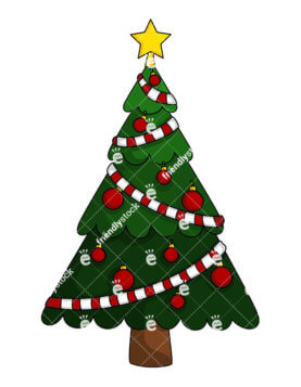 277x357 Christmas Tree Garland Clipart Full Size Of