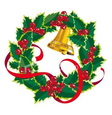 370x380 Wreath Clipart Christmas Garland Free Clipart Images Image Image