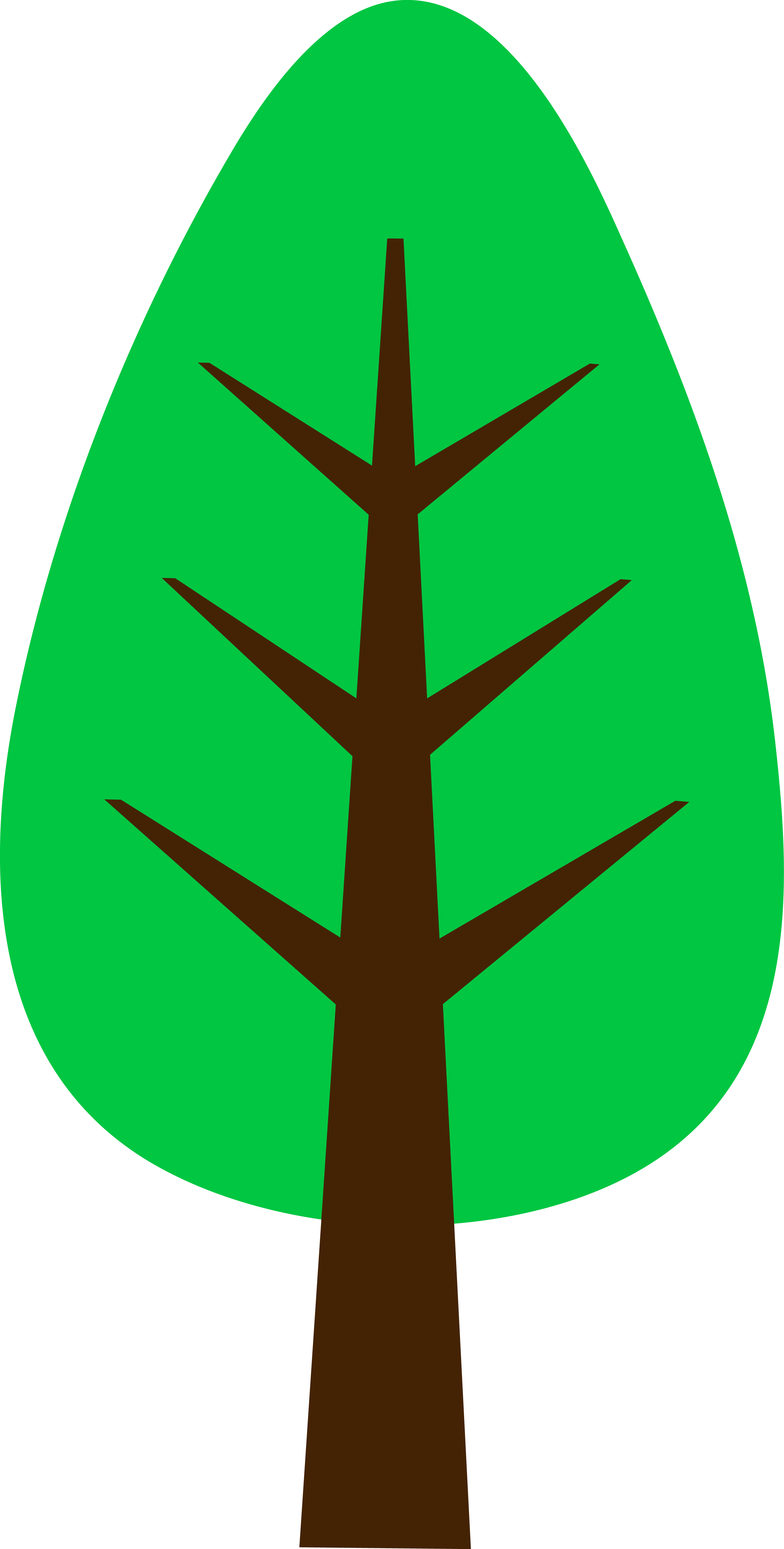 3128x6177 Cute Simple Green Tree
