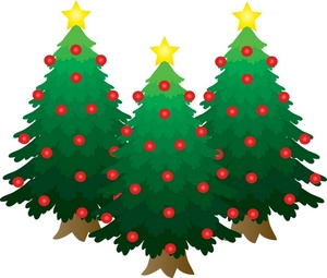 300x255 Free Christmas Trees Clipart Image