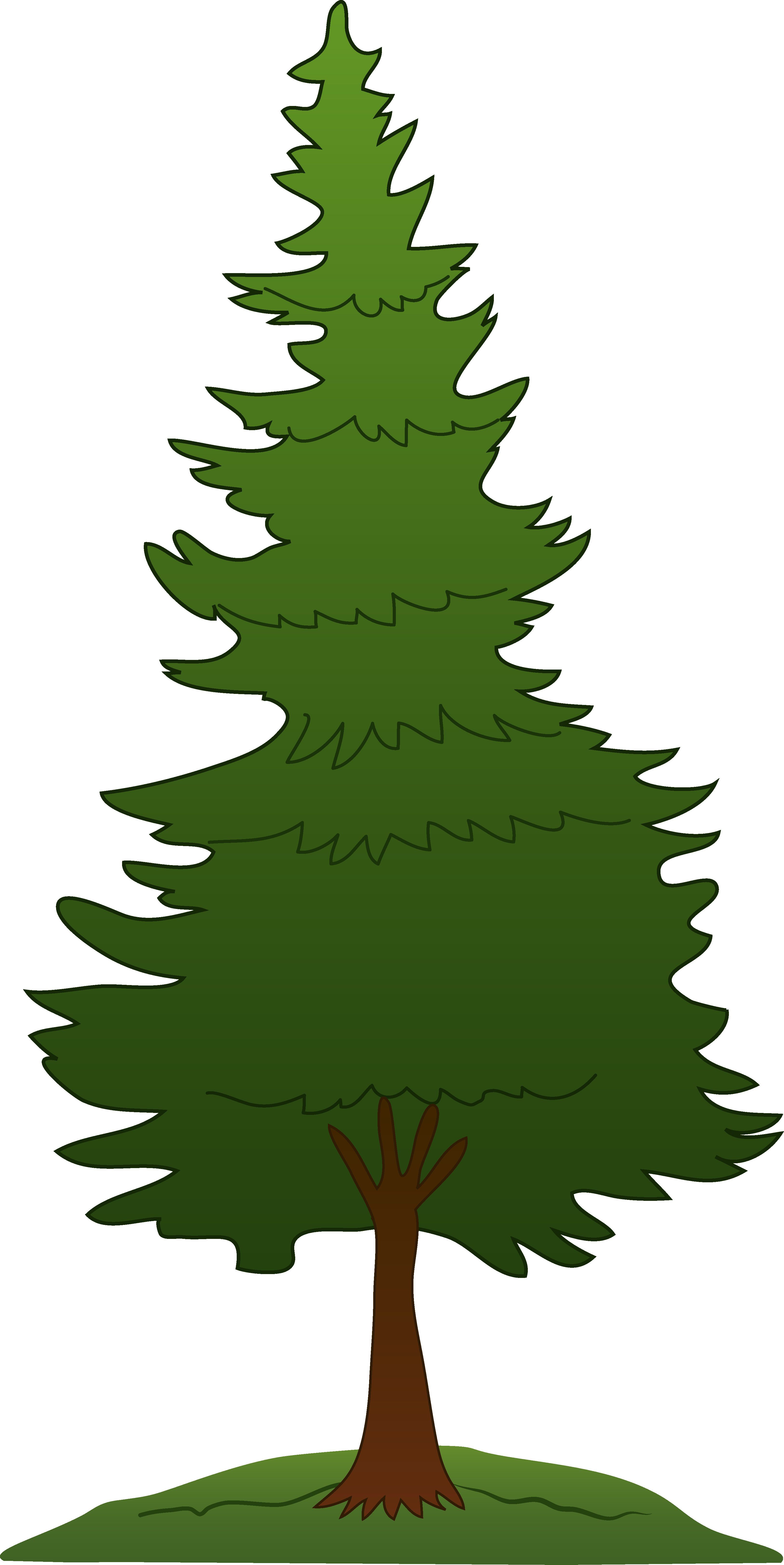 3256x6498 Green Pine Tree Design