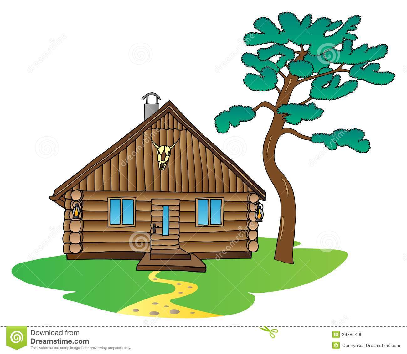 1300x1130 Log House Clip Art