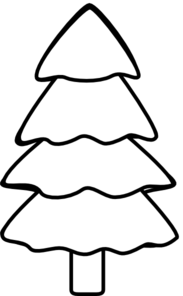 183x296 Pine Tree Black And White Clipart