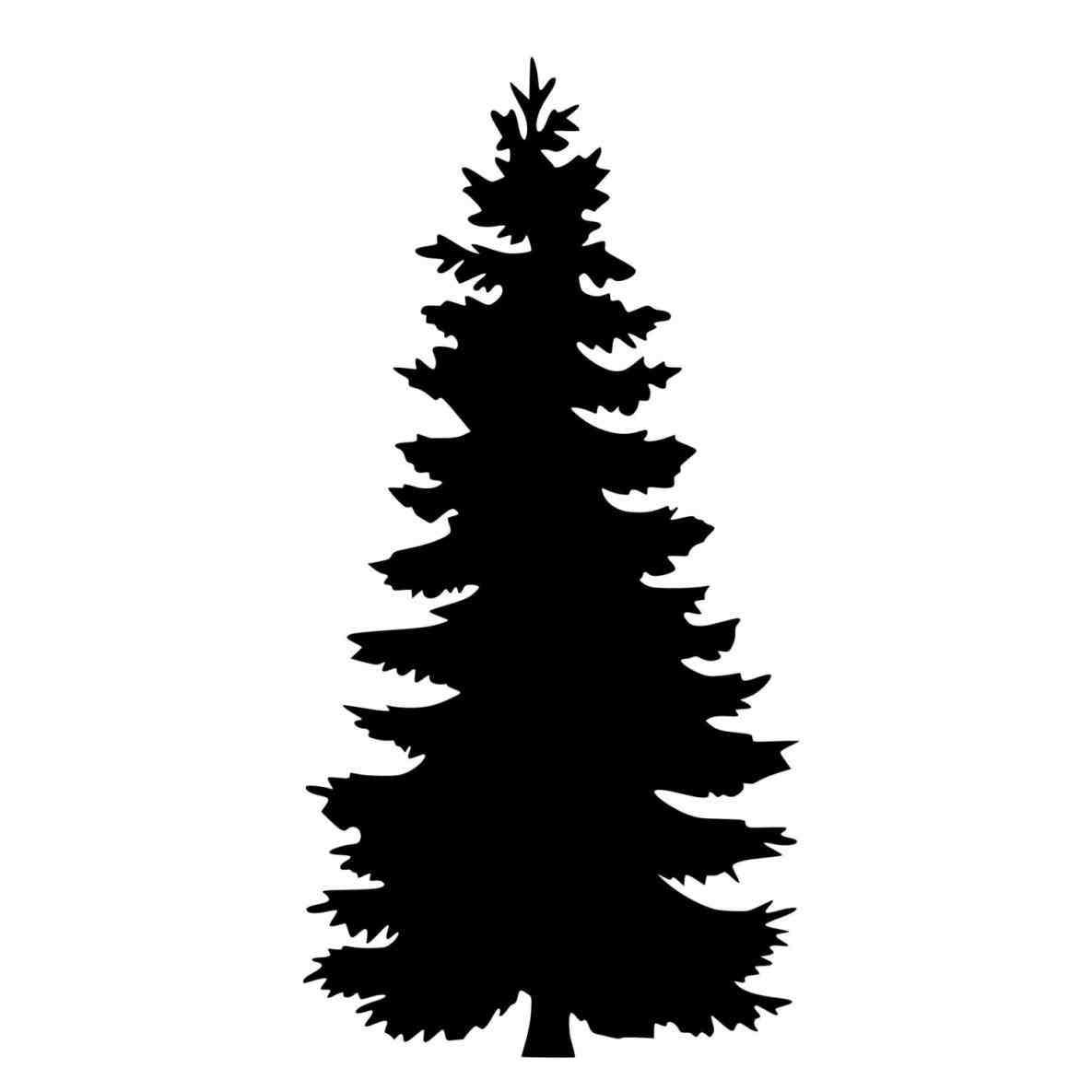 1185x1185 Pine Tree Silhouette Clip Art