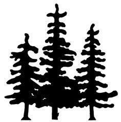 236x238 Pine Tree Silhouette Clip Art