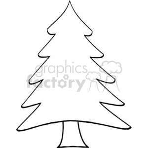 300x300 Royalty Free Pine Tree 381235 Vector Clip Art Image