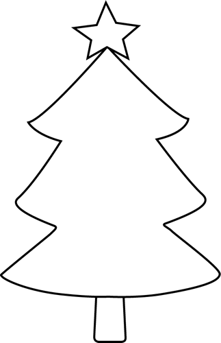 323x500 Clip Art Black And White Xmas Trees Clipart