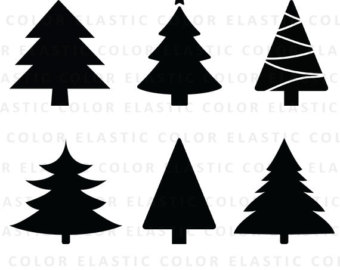 340x270 Eps Svg Png Christmas Tree Xmas Tree Cut File Trees Christmas