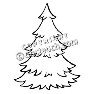 300x300 Evergreen Tree Clipart Black And White