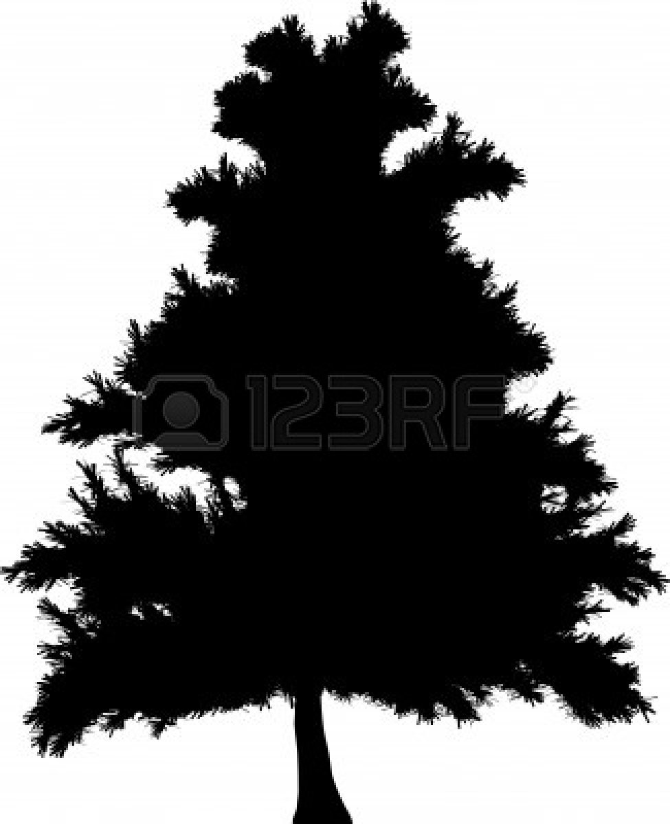 975x1200 Pine Tree Silhouette Clipart